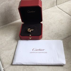 Jus un clou ring, pink gold w. diamonds size 49